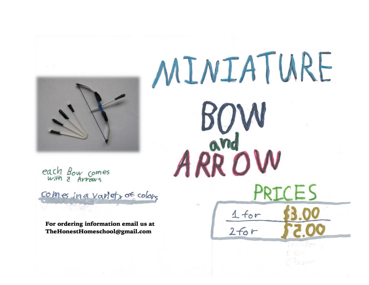 Miniature Bow and Arrow JPG